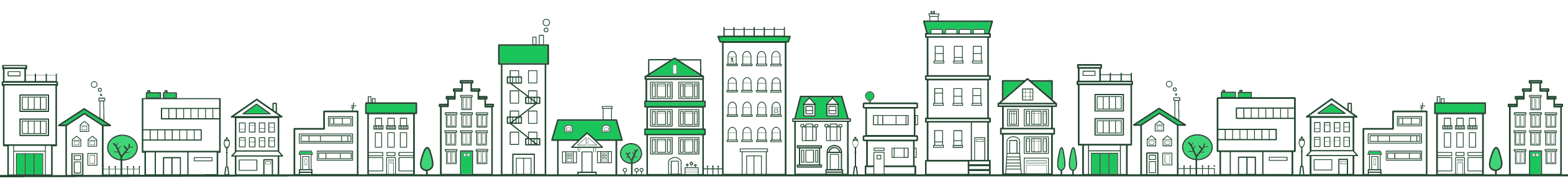 Green buildings footer border