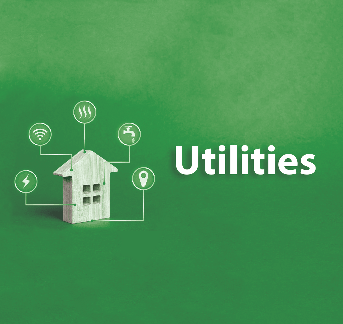 Green Utilities Toy House Graphic and Social Post