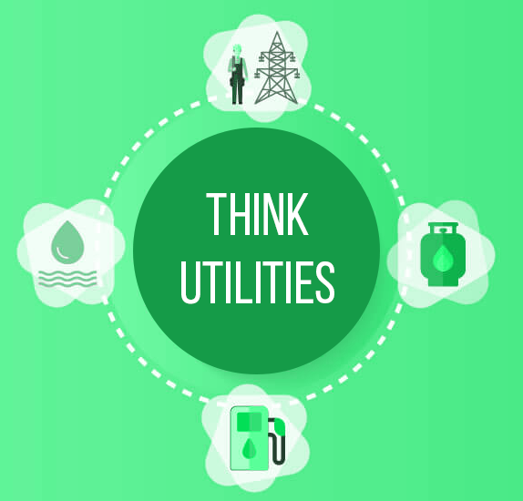 Green Water Gas Electric Infographic